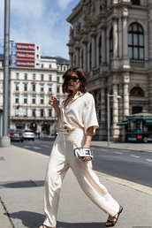 blouse,top,pants,shoes,sunglasses