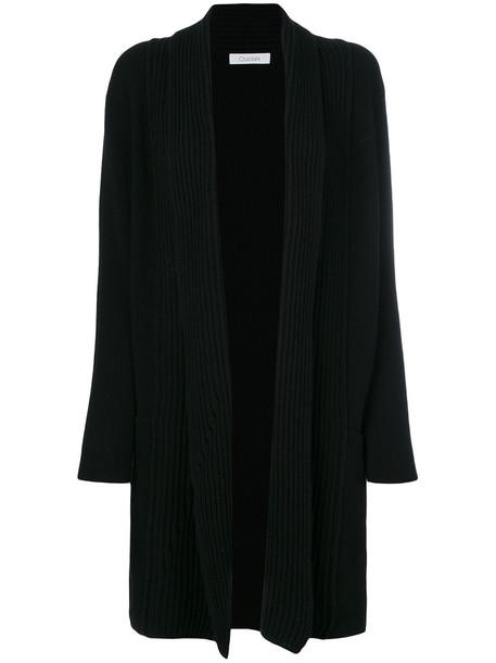 Cruciani cardigan long cardigan cardigan long open women black wool sweater
