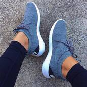 shoes,nike shoes,nike,women,grey,shorts,nike women's shoes,roshes,grey sneakers,low top sneakers,nike roshe run,nike grey shoes,tennis shoes,nike running shoes,sports shoes,grey nike,logo,nike sneakers,sneakers,nike air,nike air force,lovely,cute,sweet,celebrity,twitter,musthave,celebrity style,instagram,blue shoes,nikes,fresh kicks