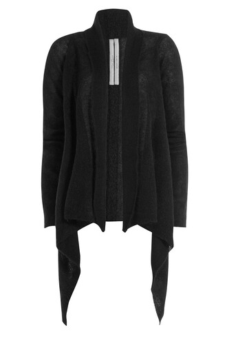 cardigan mohair wool black sweater