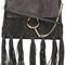 Chloé fringed faye shoulder bag, women's, black, calf leather/calf suede