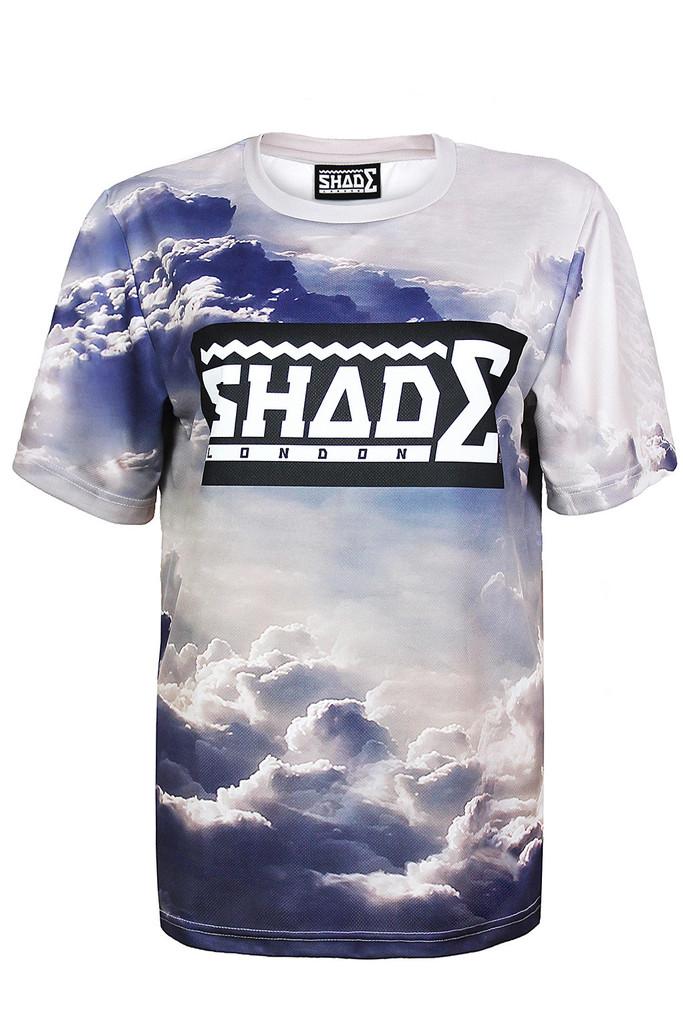 SHADE Short Sleeved Printed T-shirt - Cloud – SHADE London