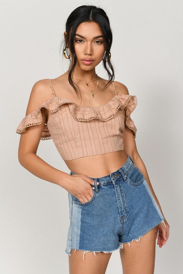 Free To Be Sienna Beaded Crop Top