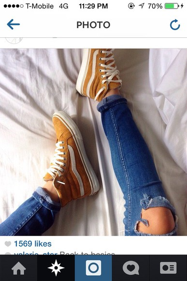 vans orange hightop high top hightop vans skater orange vans