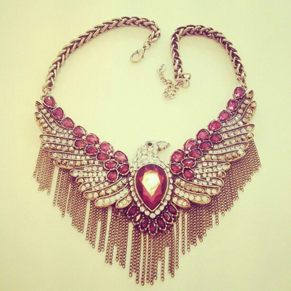 glitter jewels accessories bird chic creative diamonds native american boho gypsy necklace