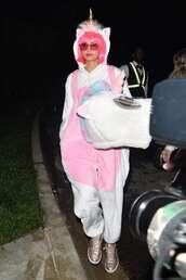 jumpsuit,unicorn,halloween,halloween costume,nina dobrev