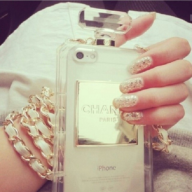 chanel perfume bottle phone case iphone 5 perfume case chanel iphone 5 case - Other