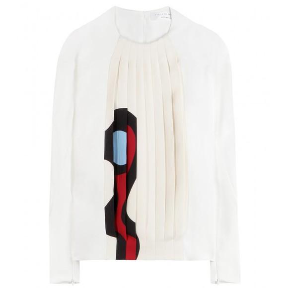 victoria beckham blouse top white