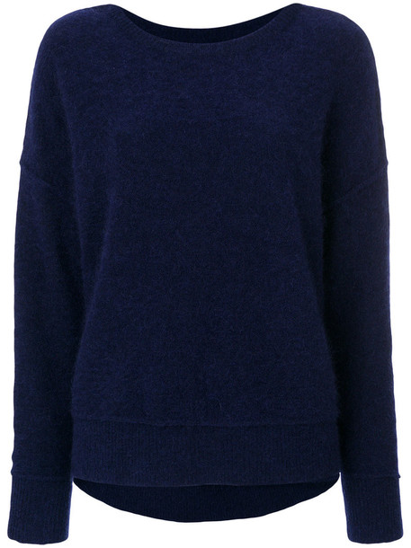 By Malene Birger jumper women spandex mohair blue wool sweater