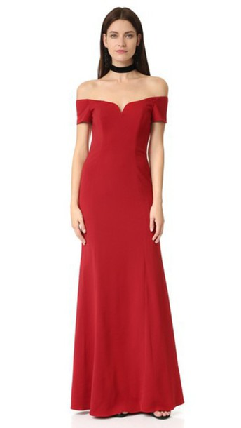 Badgley Mischka Collection gown short red dress