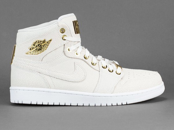 shoes jordans white gold high top sneakers
