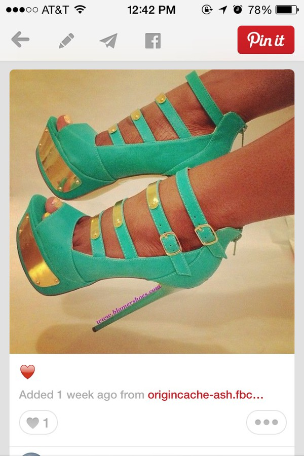shoes turquoise heels