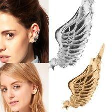 Popular gothic punk rock style star angel wing ear cuff warp clip stud earring