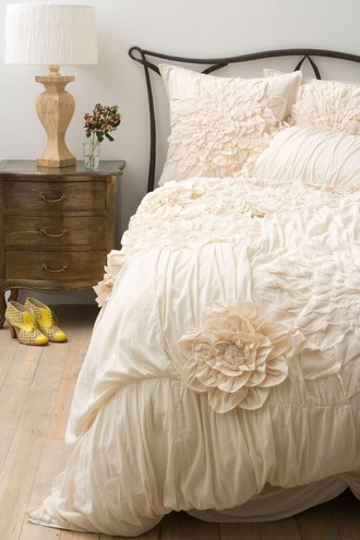 lifestyle bedding ruffle cream beautiful bedding jewels