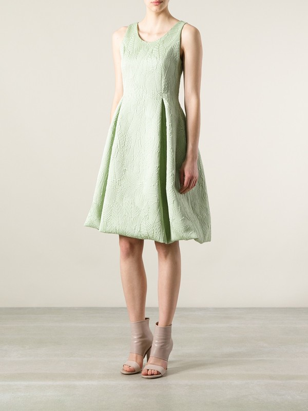 dress rochas leaf design dress rochas leaf design dress green mint