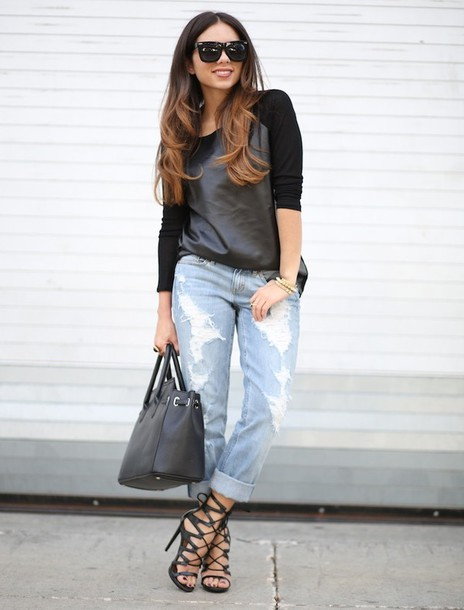 170281048b303 nany s klozet t-shirt jeans shoes bag sunglasses boyfriend jeans