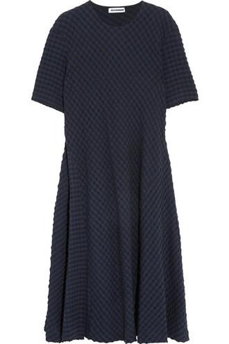 dress midi dress midi navy cotton