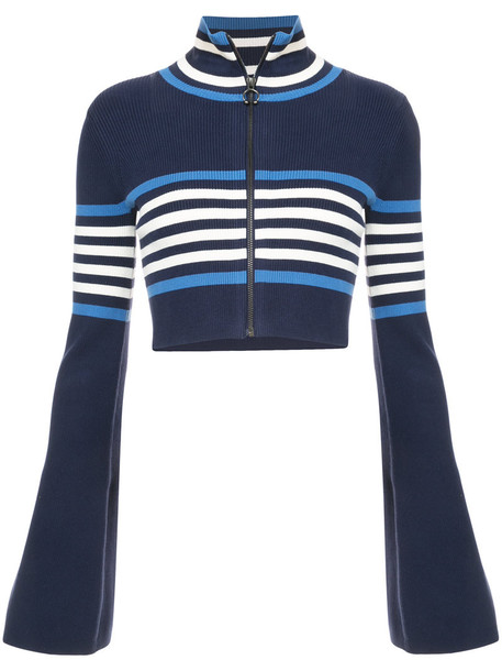 Fenty x Puma sweater cropped women spandex cotton blue