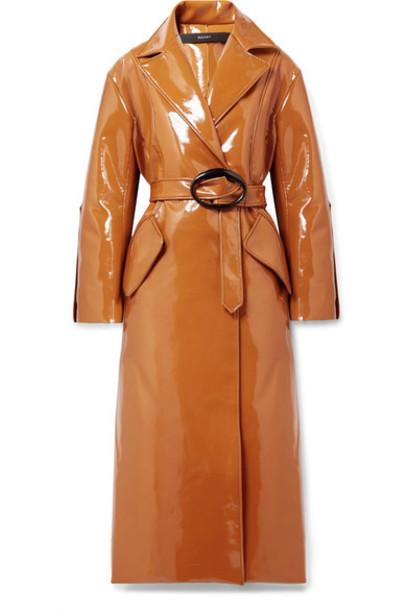 ellery coat trench coat vinyl camel