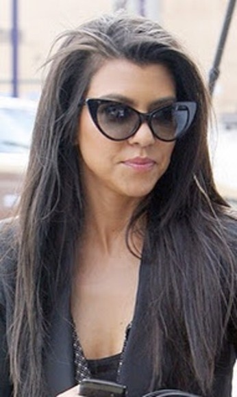 kourtney kardashian sunglasses cat eyes