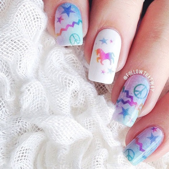 nail polish nail unicorn girly