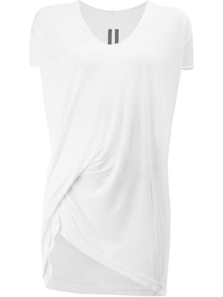Rick Owens t-shirt shirt t-shirt women white silk top