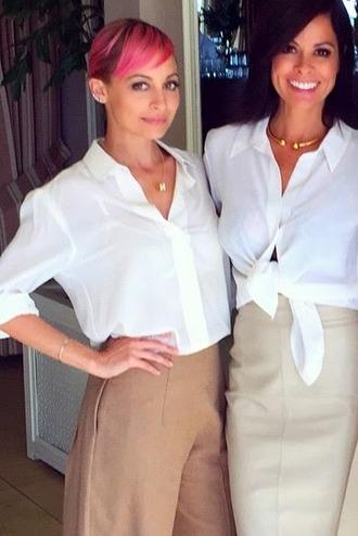 blouse pants nicole richie