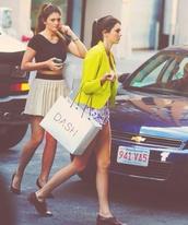 skirt,kylie jenner,beige skirt,shorts,jacket,shirt