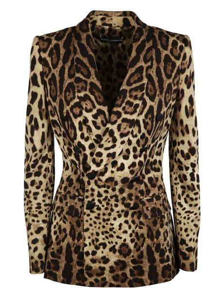 Dolce & Gabbana blazer double breasted print leopard print jacket