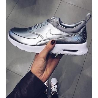 shoes nike nike running shoes silver metallic