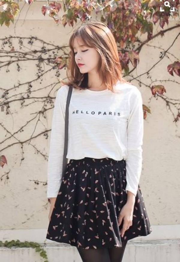 Shirt Skirt Korean Fashion Black White Korean Fashion