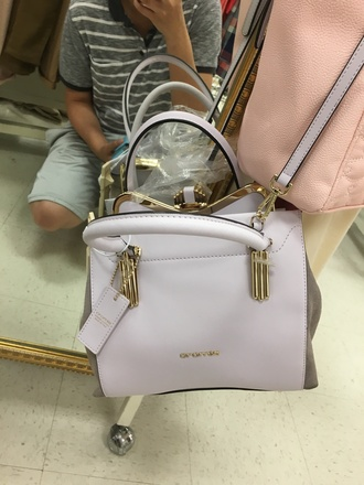 bag cromia purple gold hardware purse clasp suede bag clasp closure purple bag pastel pastel bag adjustable crossbody bag shoulder bag