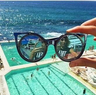 sunglasses round black black sunglasses black rim shiny