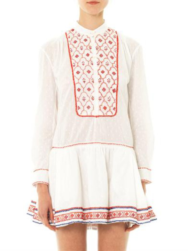 dress thierry colson lizabeth embroidered dress