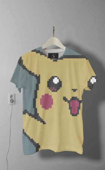 pokemon pikachu t-shirt pokemon pikachu cool shirts boys shirt