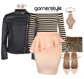 garner style blogger top skirt jacket bag dress