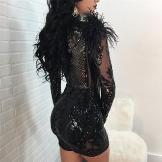 dress black cardi b urban beyonce club dress nicki minaj sequin dress