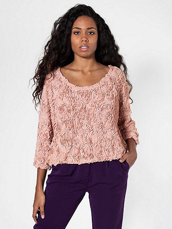 3-D Flower Mesh Jumper | American Apparel