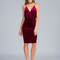 Crushed it strappy velvet midi dress black wine - gojane.com