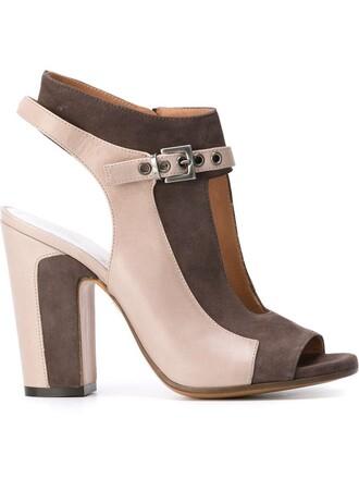 cut-out sandals grey shoes