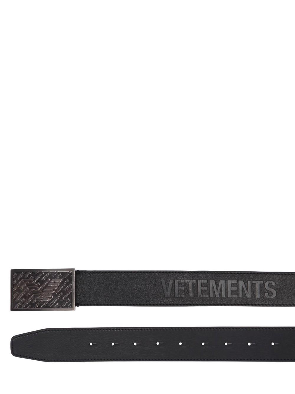 VETEMENTS Bouncer Leather Belt in black