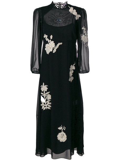 dress maxi dress maxi women floral black