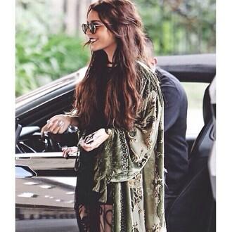 jacket venessa hudges sunglasses camo jacket