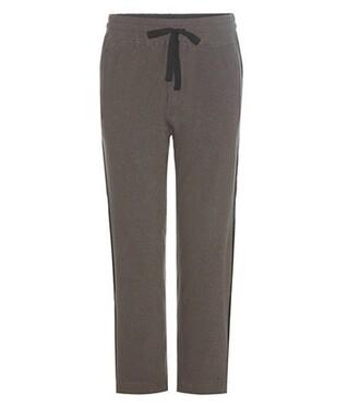 pants track pants cotton wool green