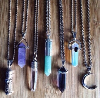 jewels stone necklace moon necklace necklace
