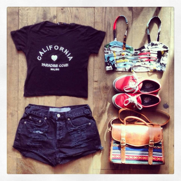 t-shirt shorts hipster tank top summer top crop tops underwear