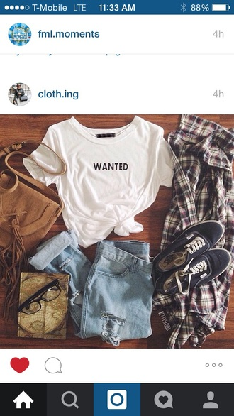shirt wanted white t-shirt jeans shoes jacket