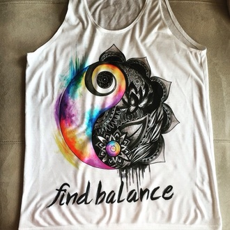shirt yin yang shirt colorful