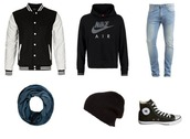 blue perk,menswear,blogger,sportswear,baseball jacket,high top converse,jacket,sweater,jeans,scarf,hat
