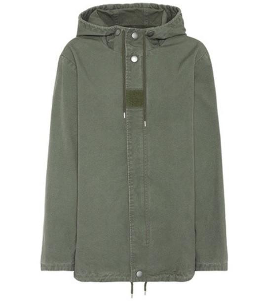 parka cotton green coat